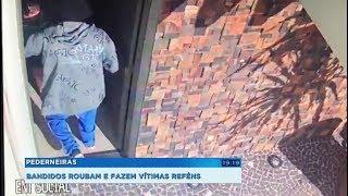 Pederneiras: bandidos assaltam casa e, na fuga, fazem motorista refém