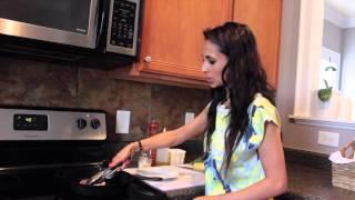 Pan Roasted Pork Chop, Yellow Squash Kale, Peach Salsa, and Crispy Garlic Potatoes Preheat oven to 400 degrees. For the...
