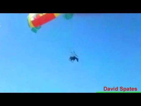 Flying Parasailing Donkey ! 😮Commentary & Vid😮  ( David Spates )