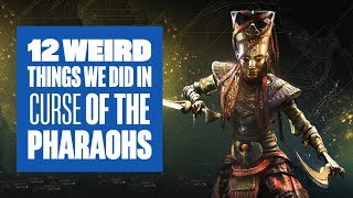 12 Weird Things We Did in Assassin's Creed Origins Curse of the Pharaohs DLC