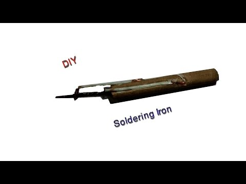 How to make a DIY Soldering Iron - Easy use - NTNL  DIY Tutorial (видео)