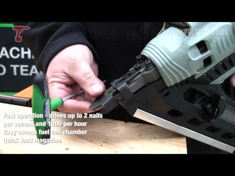Hitachi NR90GR2 Cordless Gas Framing Nailer - How to Use and Adjust