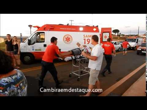 Colisão frontal em Cambira fere quatro pessoas