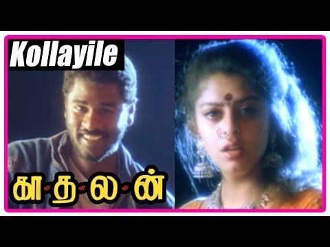 Kadhalan Tamil Movie   Scenes   Kollayile song   Nagma loves Prabhu Deva and decides to tell him