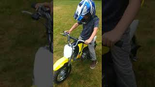 10. 2018 Suzuki DRZ70 review by 7 year old Hudson.