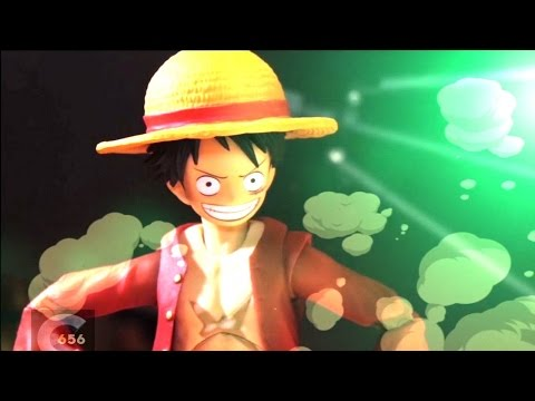 luffy & asce & zoro vs mihawk - stop motion