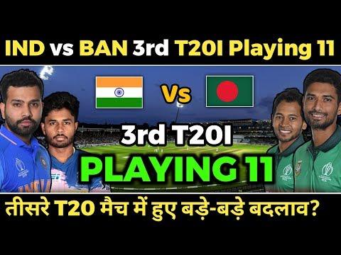 India vs Bangladesh 3rd T20 Both Teams Playing 11