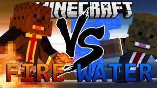 Minecraft Avatar Fire Mod vs Avatar Water Mod (Mod Battles)