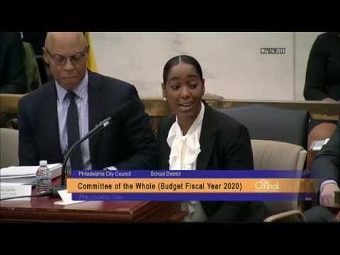 FY2020 Budget Hearing - School District of Philadelphia 5-14-2019