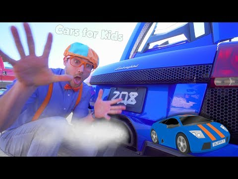 The Blippi Lamborghini Race Car Video  Learn About Vehicles for Kids