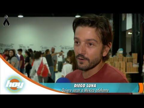Diego Luna y Camila Sodi abren centro de acopio para damnificados por el sismo | Hoy