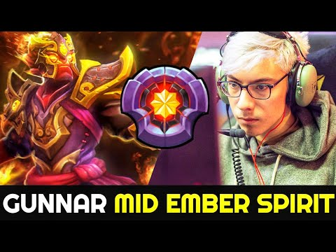 GUNNAR Mid Ember Spirit shows No Mercy with Scepter Build 7.26 Dota 2