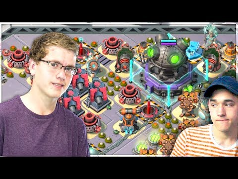 Jimmy and Christian vs WARRIOR TRIBAL MEGA CRAB! Boom Beach Gameplay! (видео)