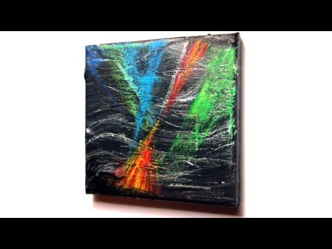 Abstrakt malen mit Acryl und Ölkreide (Abstract painting with acrylic and oil pastel)[HD]