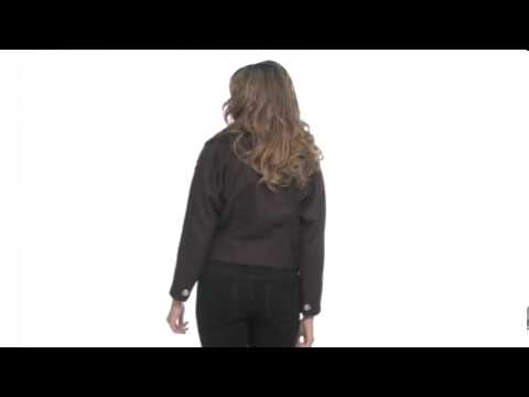 Juicy Couture Wool Melton Jacket Faux Fur TrimSKU : #8004304