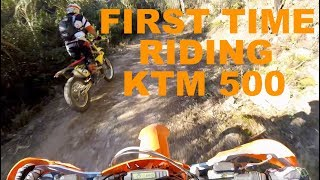 8. KTM 500 EXC review first impressions.