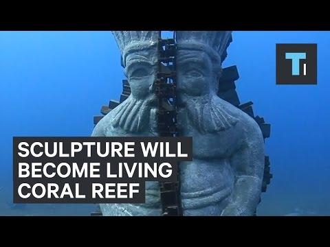 Underwater Sculptures as Coral Reefs