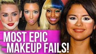 9 MOST EPIC Red Carpet MAKEUP FAILS! (Dirty Laundry) by Clevver Style