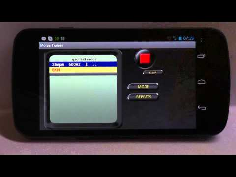 Video of Morse Trainer for Ham Radio