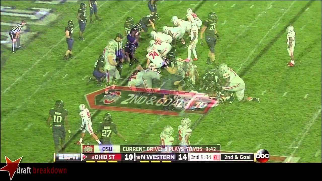 Marcus Hall vs Northwestern (2013)