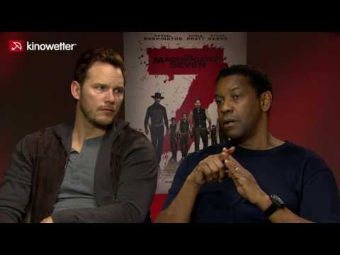"Interview with Chris Pratt & Denzel Washington for ""The Magnificent Seven"" & Movie Review"