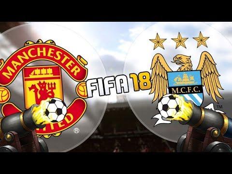KANONÁDA V DERBY! Manchester United - Manchester City [FIFA 18]