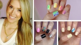 ✹Summer Nail Art!!! Three Easy Designs! ✹