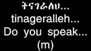 Learn Ethiopian(Amharic)language!