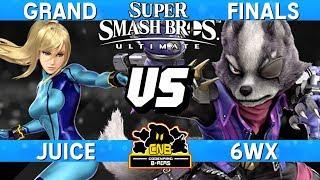 Smash Ultimate Tournament Grand Finals - Juice (ZSS) vs 6WX (Wolf) - CNB 179