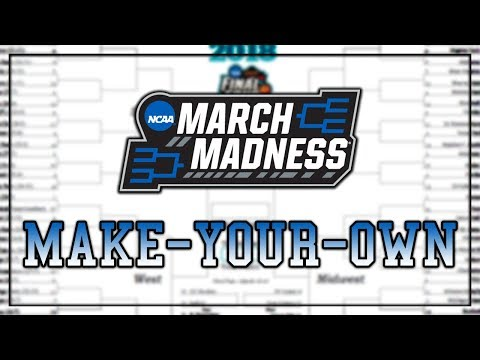 My March Madness Picks! Make your own Bracket for my Group!