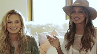 Victoria's Secret Angels Romee Strijd and Jasmine Tookes spill travel secrets and debate the hot topics of summer '17: beach or...