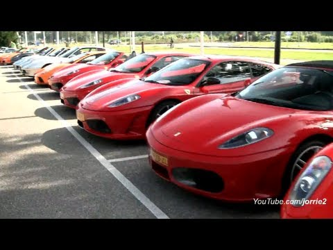 53 Exotic Cars Accelerating Through Tunnel