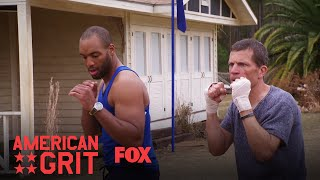 """Chris gets overly excited when George agrees to give him a boxing lesson.Subscribe now for more American Grit clips: http://fox.tv/SubscribeFOXSee more of American Grit on our official site: http://fox.tv/AmericanGritLike American Grit on Facebook: http://fox.tv/AmericanGritFBFollow American Grit on Twitter: http://fox.tv/AmericanGritTWFollow American Grit on Instagram: http://fox.tv/AmericanGritIGLike FOX on Facebook: http://fox.tv/FOXTV_FBFollow FOX on Twitter: http://fox.tv/FOXTV_TwitterAdd FOX on Google+: http://fox.tv/FOXPlusAMERICAN GRIT is a new 10-episode competition series starring WWE Superstar John Cena. Sixteen of the country's toughest men and women will be split into four teams as they work together to face a variety of military-grade and survival-themed challenges. Cena and an elite group of mentors from the nation's most exclusive military units will push these civilians beyond their limits. The mentors, known as """"The Cadre,"""" include Rorke Denver, Noah Galloway, Tawanda """"Tee"""" Hanible and Nick """"The Reaper"""" Irving. These real-life heroes, who represent diverse backgrounds and top branches of the U.S. Armed Forces, will impart their first-hand knowledge and experience to help the competitors work together as teams to surmount near impossible mental and physical challenges.AMERICAN GRIT embodies the military ethos """"no man left behind,"""" because only the first team to complete the challenges together is safe from elimination. Each episode will culminate in """"The Circus,"""" a punishing, endurance-based obstacle course designed to break the weakest competitors. With up to a million dollars of prize money at stake, this is the ultimate test of strength, grit, the human spirit and most importantly, teamwork.George Foreman IV Gives Chris A Boxing lesson  Season 2 Ep. 7  AMERICAN GRIThttp://www.youtube.com/FoxBroadcasting"""
