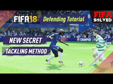 FIFA 18 Defending Tutorial (New Secret Tackling Method)