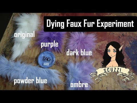 I cracked the code !   Dying Faux Fur  Experiment