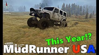 SpinTires MudRunner: MudRunner USA COMING THIS YEAR! + CONSOLE MODS Update and NEW DLC Info!