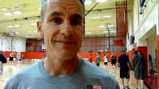 Billy Donovan at the USA Basketball U18 Tryouts