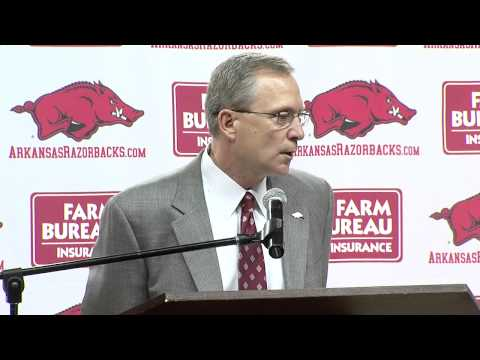 0 Jeff Long Fires Arkansas Football Coach Bobby Petrino (Press Conference)