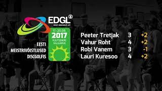 Eesti meistrivõistlused discgolfis 2017. II päev, Valgjärve rada.