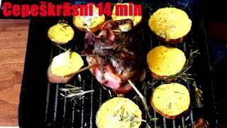 Liellopa gaļas steiks ar bekonu un saldo kartupeli