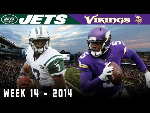 Teddy Bridgewater Clutch on a Cold Day!  (Jets vs. Vikings, 2014)