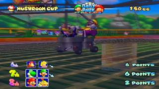 Wario & Waluigi Mario Kart Double Dash GamePlay!!