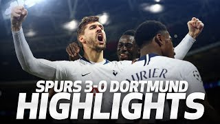 HIGHLIGHTS | SPURS 3-0 BORUSSIA DORTMUND (UEFA Champions League Round of 16 first leg)