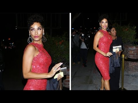 Nicole Murphy Alluring In Red For Girl's Night Out