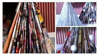 DIY Magazine Christmas Trees - YouTube
