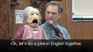Ventriloquist Jonathan Geffner performs for a Hasidic boys' day camp in Brooklyn NY in July, 2016. http://geffner.com/