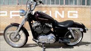 4. 2007 Harley Davidson 1200 custom sportster walk around and start up. LOUD!!!HD!!!