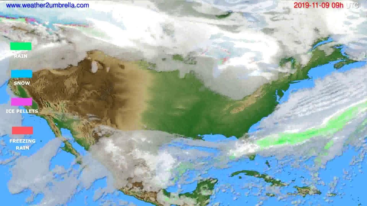 Precipitation forecast USA & Canada // modelrun: 12h UTC 2019-11-07