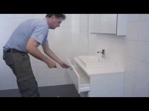 Assembly video about montage of bathroom furniture Artic collection