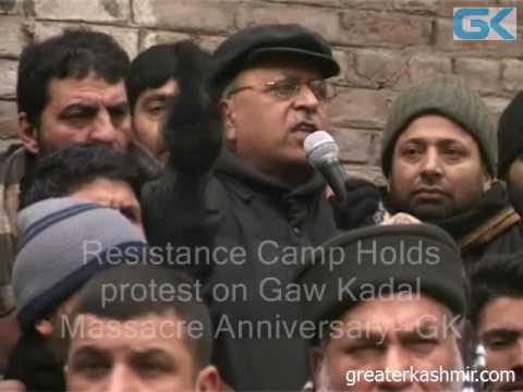 Resistance Camp Holds protest on Gaw Kadal Massacre Anniversary